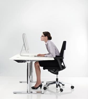 Computerbrillen - Leesbril houding